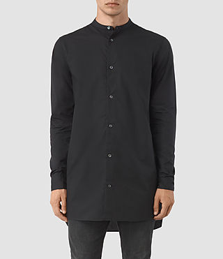 Mens Ashton Shirt (Black) - product_image_alt_text_1