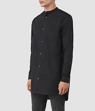 Mens Ashton Shirt (Black) - product_image_alt_text_2