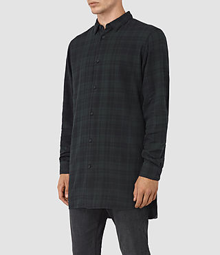 Uomo Downham Ls Shirt (Dark Green) - product_image_alt_text_2
