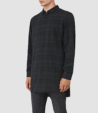 Men's Downham Check Shirt (Dark Green) - product_image_alt_text_2