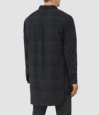Men's Downham Check Shirt (Dark Green) - product_image_alt_text_3