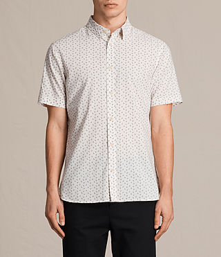Mens Erdman Short Sleeve Shirt (ECRU WHITE) - product_image_alt_text_1