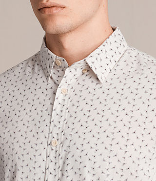 Men's Erdman Short Sleeve Shirt (ECRU WHITE) - product_image_alt_text_2