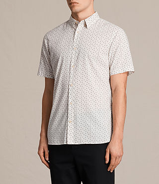 Men's Erdman Short Sleeve Shirt (ECRU WHITE) - product_image_alt_text_3