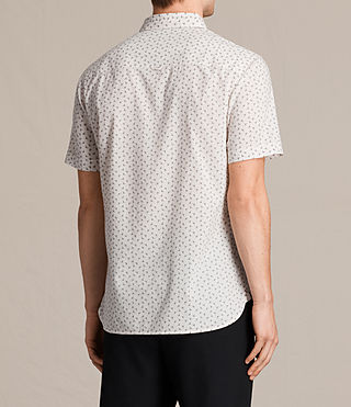 Men's Erdman Short Sleeve Shirt (ECRU WHITE) - product_image_alt_text_4