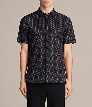 Herren Erdman Short Sleeve Shirt (Jet Black) -