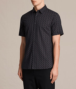 Men's Erdman Short Sleeve Shirt (Jet Black) - product_image_alt_text_3