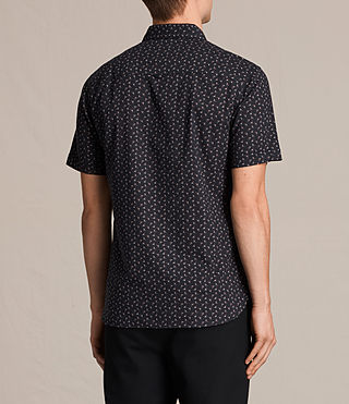 Men's Erdman Short Sleeve Shirt (Jet Black) - product_image_alt_text_4