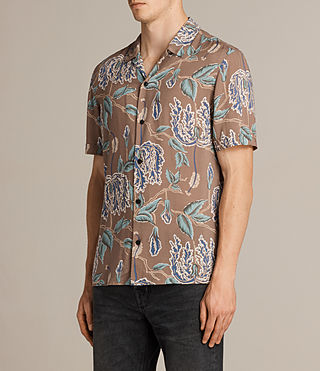 Herren Peoria Short Sleeve Shirt (Brown) - product_image_alt_text_3