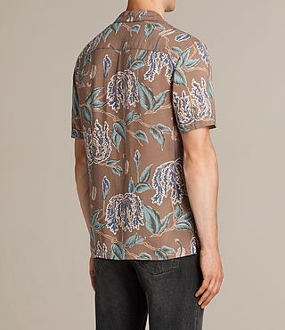 Herren Peoria Short Sleeve Shirt (Brown) - product_image_alt_text_4