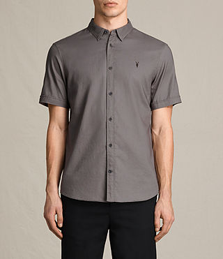 Mens Topanga Short Sleeve Shirt (Slate Grey) - product_image_alt_text_1