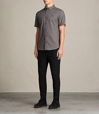 Herren Topanga Short Sleeve Shirt (Slate Grey) - product_image_alt_text_4