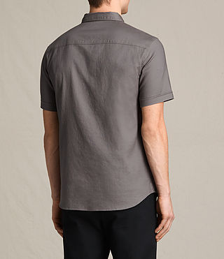 Herren Topanga Short Sleeve Shirt (Slate Grey) - product_image_alt_text_5