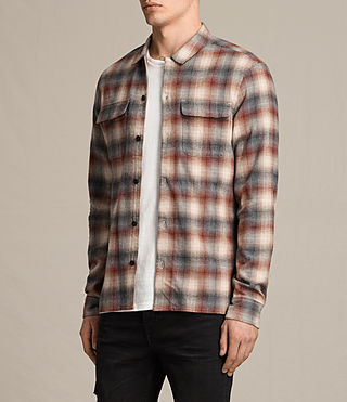 Mens Tehama Shirt (OXBLOOD RED) - product_image_alt_text_2