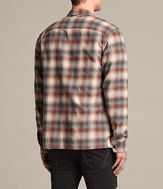 Mens Tehama Shirt (OXBLOOD RED) - product_image_alt_text_3