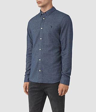 Herren Shire Shirt (Indigo Blue) - product_image_alt_text_2