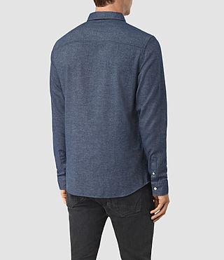 Herren Shire Shirt (Indigo Blue) - product_image_alt_text_3