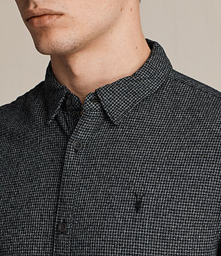Men's Blackshear Shirt (Black Check) - Image 2