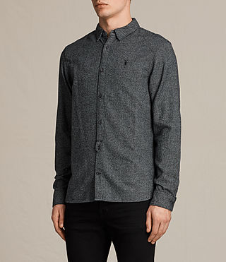 Men's Blackshear Shirt (Black Check) - product_image_alt_text_3