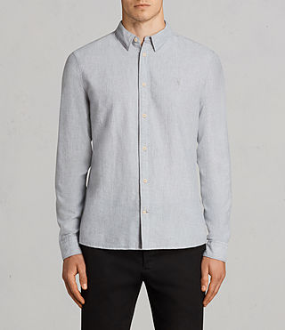 Hommes Millard Ls Shirt (Light Grey)