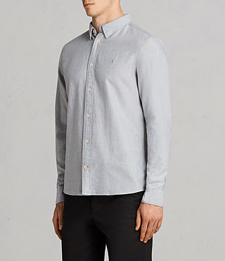Men's Millard Shirt (Light Grey) - product_image_alt_text_3