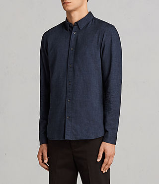 Hommes Millard Shirt (Blue) - product_image_alt_text_3