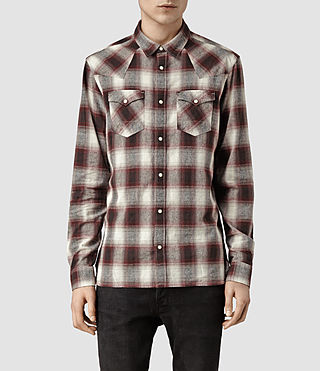 Mens Jericho Shirt (Puce/Berry)