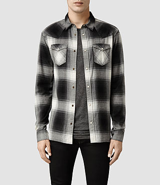 Mens Stumpville Shirt (Washed Black/Grey)