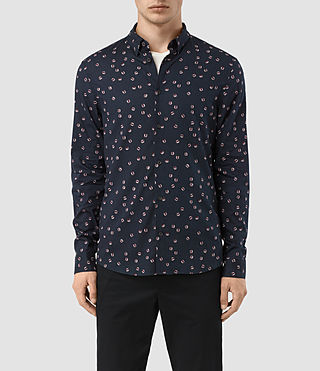 Hombre Renovo Ls Shirt (Dark Ink) - product_image_alt_text_1