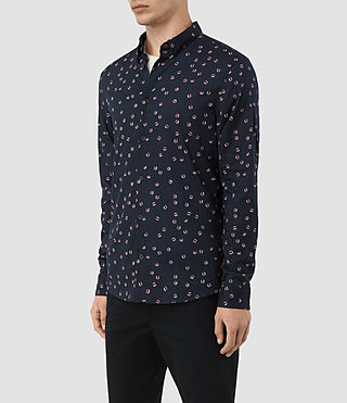 Hombres Renovo Ls Shirt (Dark Ink) - product_image_alt_text_2