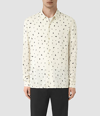 Mens Vee Shirt (Chalk White) - product_image_alt_text_1