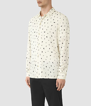 Men's Vee Shirt (Chalk White) - product_image_alt_text_2
