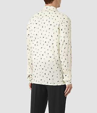 Men's Vee Shirt (Chalk White) - product_image_alt_text_3