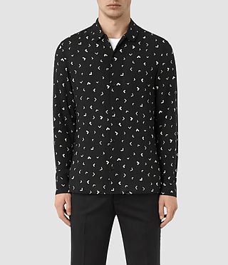 Men's Vee Shirt (Jet Black) -