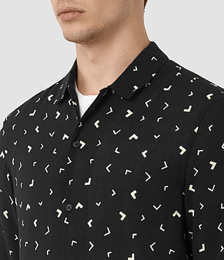 Men's Vee Shirt (Jet Black) - product_image_alt_text_2