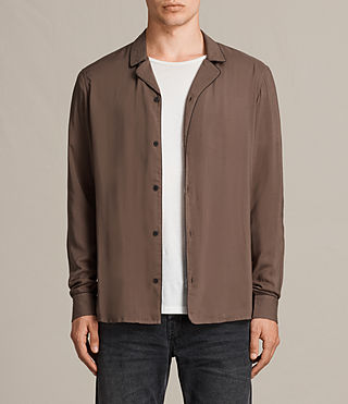 Mens Brummel Shirt (BATTLE BROWN) - product_image_alt_text_1