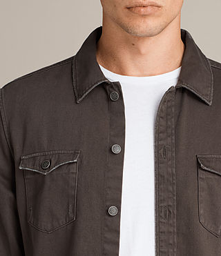 Hommes Chemise Bragg Manches Longues (Dark Khaki) - product_image_alt_text_2