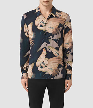 Hommes Wader Ls Shirt (Dark Ink)