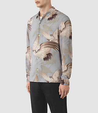 Hombres Wader Shirt (Chrome Grey) - product_image_alt_text_2