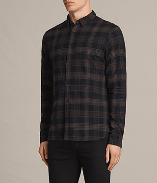 Hombres Camisa de manga larga Monson (Black Check) - product_image_alt_text_3