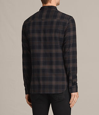 Hombres Camisa de manga larga Monson (Black Check) - product_image_alt_text_4