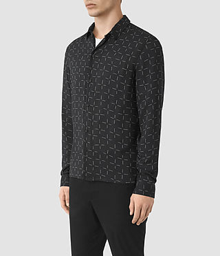 Hommes Needles Ls Shirt (Jet Black) - product_image_alt_text_2