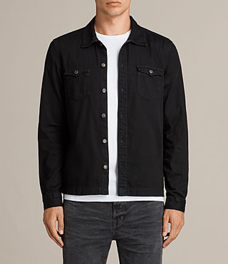 Men's Bonham Shirt (Black) - product_image_alt_text_1