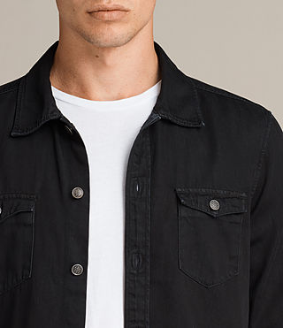 Men's Bonham Shirt (Black) - product_image_alt_text_2