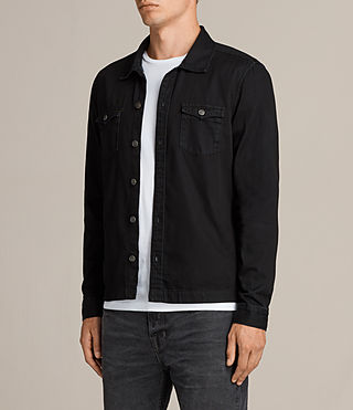 Men's Bonham Shirt (Black) - product_image_alt_text_3