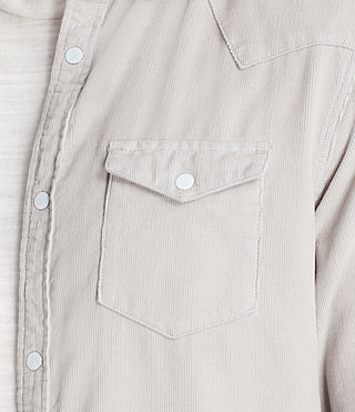 Hombres Camisa Matsuyama (Mid Grey) - product_image_alt_text_2