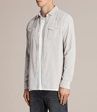 Hombres Camisa Matsuyama (Mid Grey) - product_image_alt_text_3