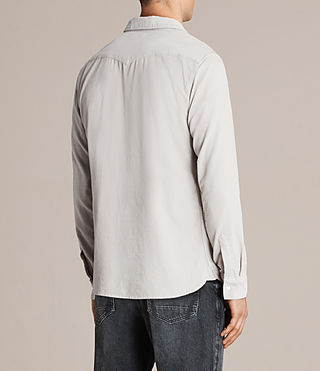Hombres Camisa Matsuyama (Mid Grey) - product_image_alt_text_4