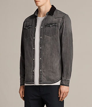 Hombres Camisa Genki (Grey) - product_image_alt_text_3