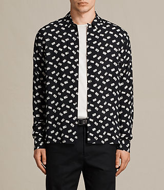 Men's Domino Shirt (Black) -
